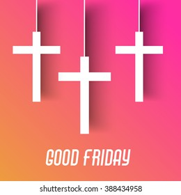 Vector illustration of beautiful abstract cross for Good Friday with background.