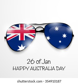 Vector illustration of a beautiful background for Australia day.