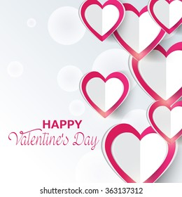 Vector illustration of a beautiful background for Happy Valentines Day .