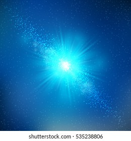 Vector illustration beautiful background with shining star