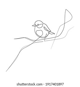 Vector Illustration of Beautiful Bird Line Art Drawing. Good for Cover, Poster, T-Shirt, Graphic Design Print, and others.