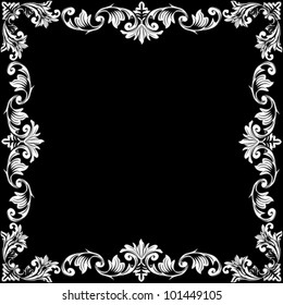 Vector illustration of beautiful black and white frame