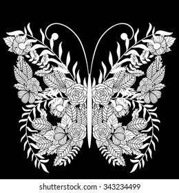 Black And White Butterfly Wallpaper Stock Vectors Images Vector Art Shutterstock
