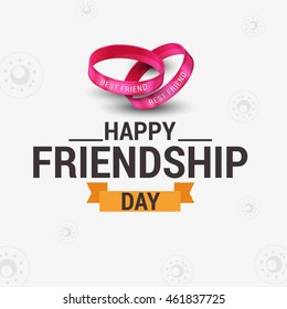 Vector illustration beautiful card for friendship day.