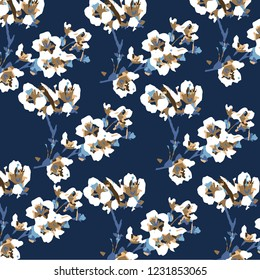 Vector illustration of a beautiful floral bouquet.watercolor floral pattern, Ditsy floral background. Liberty style. fabric, covers, manufacturing, wallpapers, print, gift wrap
