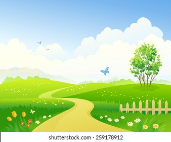 Road Garden Vector Stock Vectors, Images \u0026 Vector Art