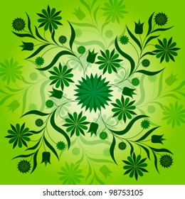 Vector illustration of beautiful green spring background