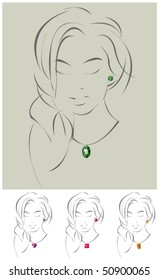 Vector illustration of beautiful jewelry model