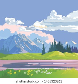 Vector illustration of beautiful landscape
