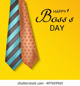 Vector illustration of a Beautiful Tie Background for Boss's Day.