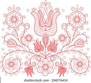 Vector illustration of beautiful Transylvanian hungarian folk motif