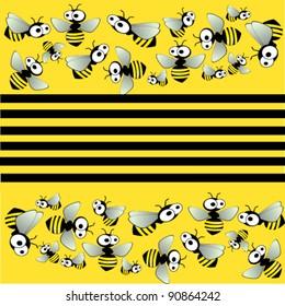vector illustration of  bee