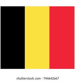 Vector illustration Belgium flag icon isolated on white background. Belgium flag button