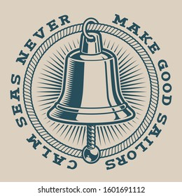 Vector illustration of a bell on a white background. Perfect for logos, shirt designs and many other uses