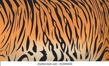 Vector illustration of Bengal tiger stripe pattern