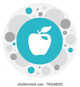 Vector Illustration Of Berry Symbol On Braeburn  Icon. Premium Quality Isolated Honeycrisp  Element In Trendy Flat Style.