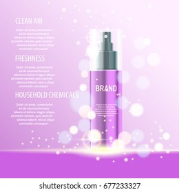 Vector illustration, best care cosmetic natural product