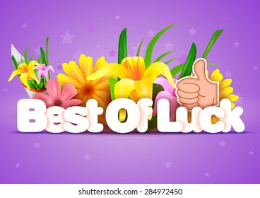 vector illustration of Best of Luck wallpaper background
