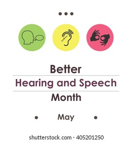 vector illustration / Better Hearing and Speech Month