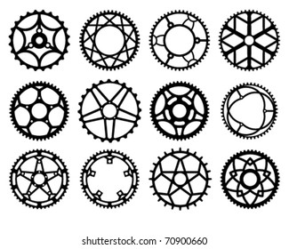 Vector illustration of bicycle chain wheels