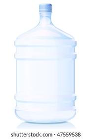 Vector illustration big bottle of water. Gradient only