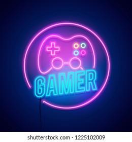 Gamer Neon Images Stock Photos Vectors Shutterstock