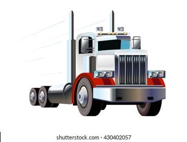 Vector illustration of a big modern truck