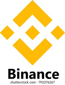 Vector Illustration Of Binance / BNB Cryptocurrency Coin / Virtual Money Icon / Logotype In Color