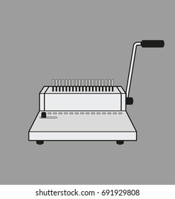 Vector Illustration of binding machine.