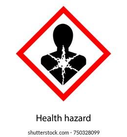 Vector illustration bio hazard danger sign, symbol isolated on white background. Biohazard health hazard