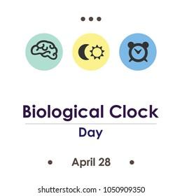 vector illustration for biological clock day in April
