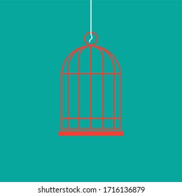 vector illustration of a birdcage business related. vector icon of a cage