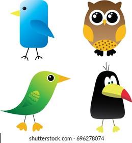 Vector Illustration Birds