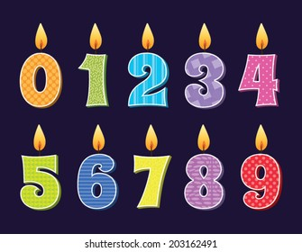 Vector illustration of birthday candles