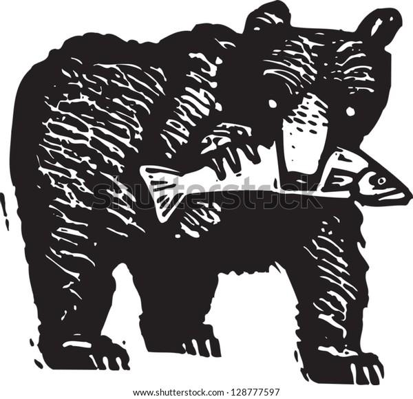 Vector illustration of a black bear