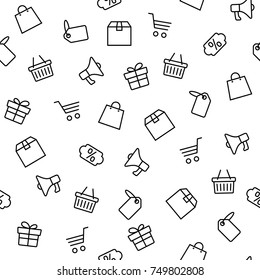 Vector illustration of Black friday icons set isolated on white background