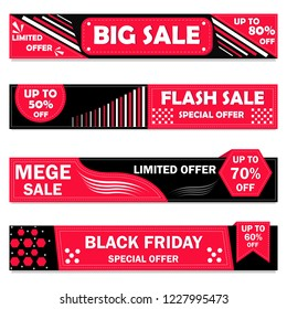 vector illustration of Black Friday Sale promotion shopping sale background
