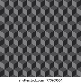 Vector illustration of black geometric pattern
