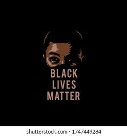 Vector illustration of black lives matter, isolated on black background