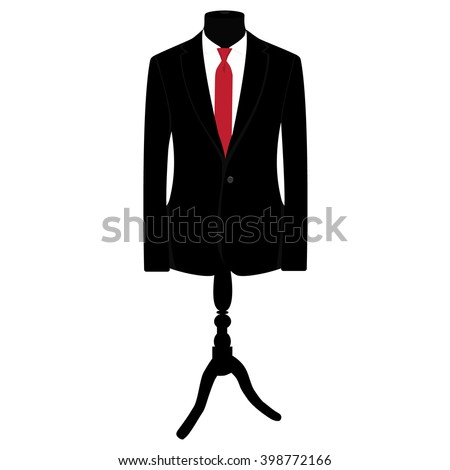 Vector Illustration Black Man Suit Red Stock Vector Royalty Free
