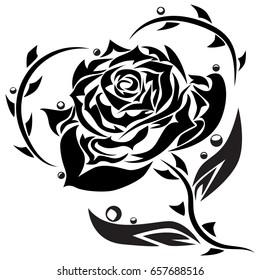 Tribal Rose Images Stock Photos Vectors Shutterstock