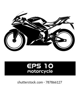 A vector illustration for Vector black silhouette of bike or motorcycle.
