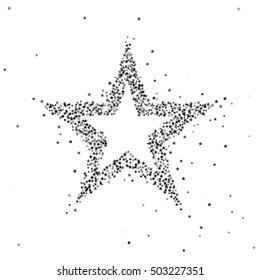 Vector illustration of black star
