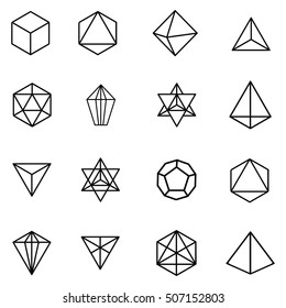 vector illustration for black and white graphic gems and crystals for sacred geometry concept wallpaper or background