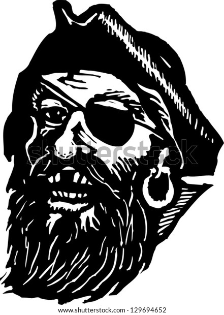 Vector illustration of Blackbeard