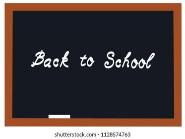 vector illustration of a blackboard back to school background