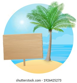 Vector illustration - Blackboard, wood table. Banner, site, poster template with place for your text.