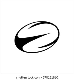 Vector illustration of black,white rugby ball, eps8, rugby ball vector