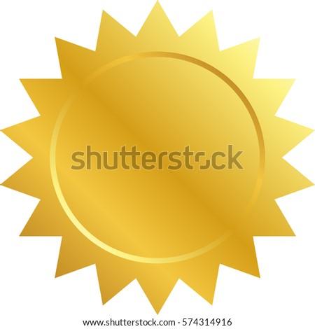 vector illustration blank award medal icon stock vector royalty