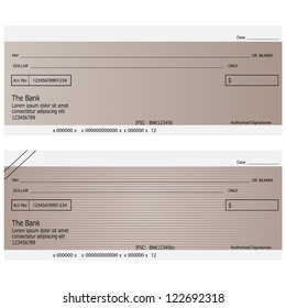vector illustration blank bank cheque book